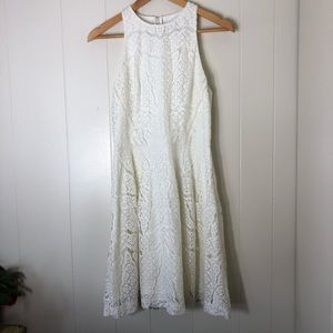 Mossimo High neck Sleeveless lace dress.